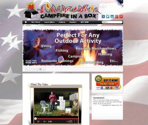 Campfire in a box website
