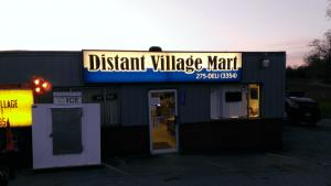Distant, PA Village Mart Backlit Sign Face