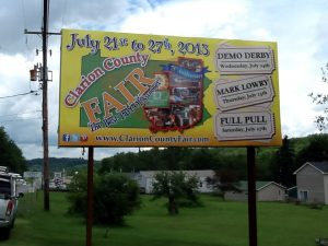 Clarion County Fair Billboard Design