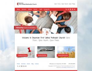 Emporium Church Website Design