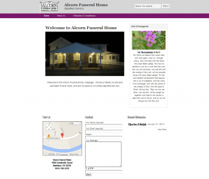 Alcorn Funeral Home Website Design