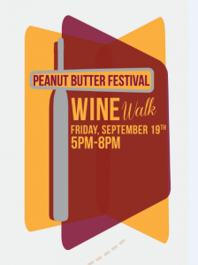 Wine Walk Logo Graphic Design